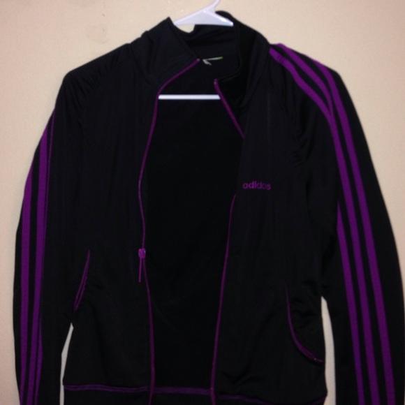 65e76af2a449 Adidas Jackets   Blazers - Purple adidas striped track jacket