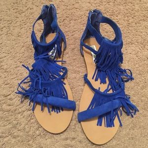 Fringed Blue sandals❌price is firm❌