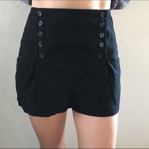 Urban Outfitters high waisted black sailor shorts