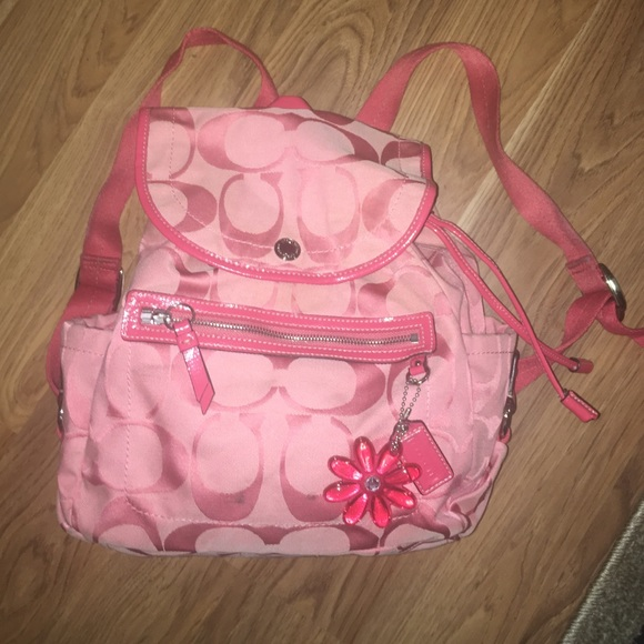 74% off Coach Handbags - Pink Coach Backpack Purse from ...