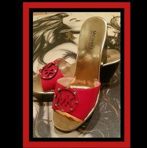 Michael Kors Shoes - 🍒MICHAEL KORS Signature Slip on Mules wedges 🍒