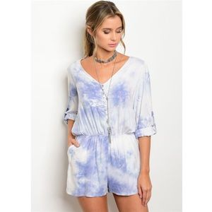 Pants - *SALE, LAST ONE* New M tie-dye romper