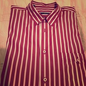 Gucci Other - Men's 100% Authentic GUCCI wine/white dress shirt