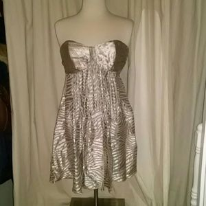 Express Dresses & Skirts - Silver strapless dress