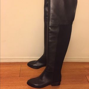 BCBGMaxAzria - BCBG MAXAZARIA MATTEO OVER-THE-KNEE LEATHER BOOTS ...