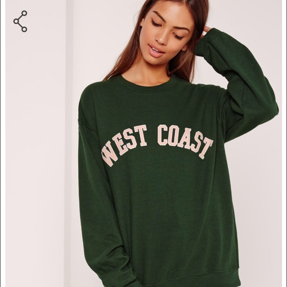 quality design latest fashion shoes for cheap Missguided Tops | West Coast Slogan Sweatshirt | Poshmark
