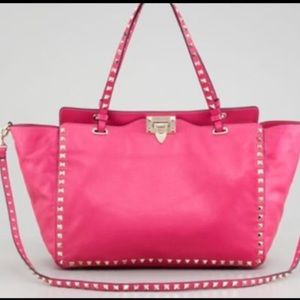 Valentino Handbags - AUTHENTIC VALENTINO ROCKSTUD PINK Leather Bag