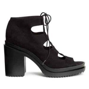 H&M Coachella Lace up shoes