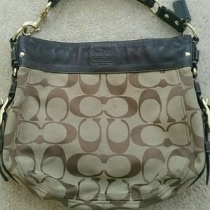 Coach Handbags - Coach Large Brown Hobo Handbag Purse