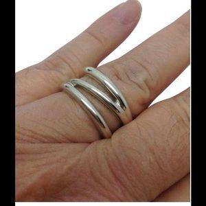 Tiffany & Co. Jewelry - Tiffany & Co. Triple wave designer ring band