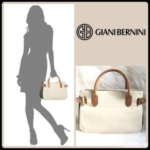 Giani Bernini Handbags - PEBBLE LEATHER SATCHEL/CROSS-BODY