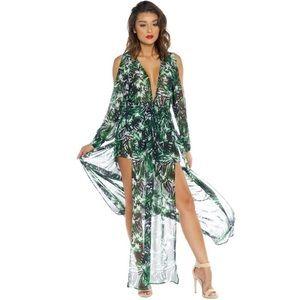 LF Dresses & Skirts - Island Breeze Drawstring Maxi Dress