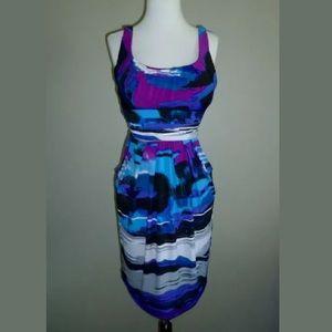 Bisou Bisou Watercolor Sheath Dress
