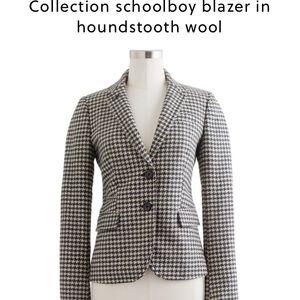 J. Crew Jackets & Blazers - J. Crew collection houndstooth schoolboy blazer