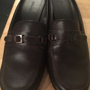 Dockers brown mule loafers