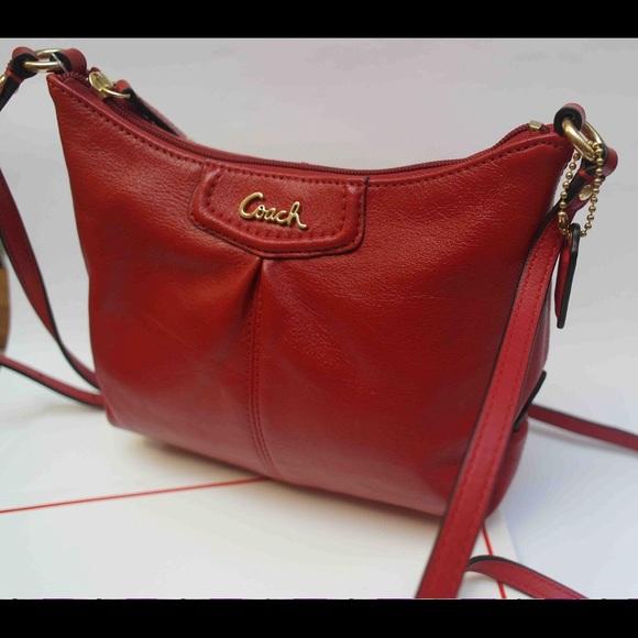Leather Bags Small Cherry Bag Poshmark Coach Crossbody Rtxdqdw