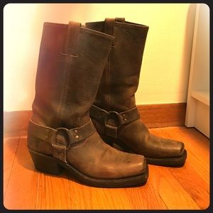 Frye Shoes - Frye Harness Boots -- ship same day