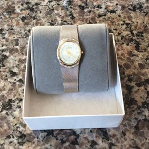 Skagen Accessories - Crystal Accented Mother of Pearl Women's Watch