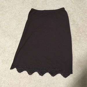 Bisou Bisou brown skirt