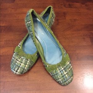 highlights Shoes - 🆕 Blue Green Plaid Wooly Knit Heels Sz 10 NWOT