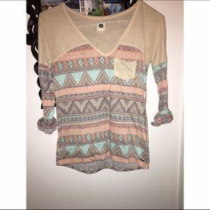 Roxy tribal shirt size XS