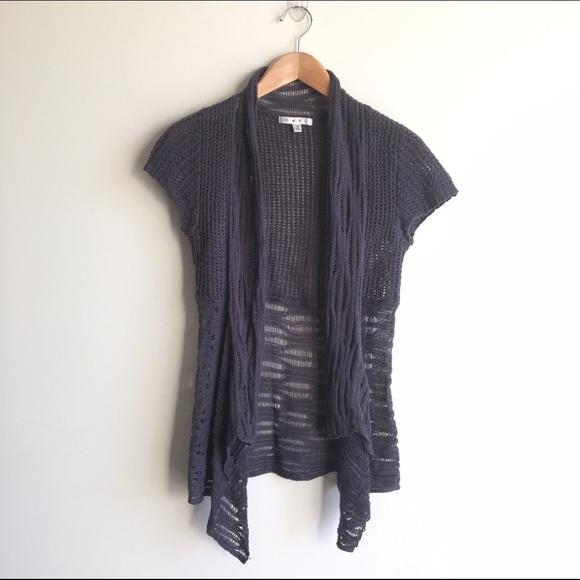 CAbi Sweaters - CAbi  286 Cottage Cardigan Short Sleeve Grey 8cf57cbdc
