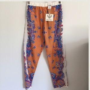 LF Pants - LF Haram Pants Orange and Blue Paisley Medium