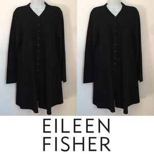 Eileen Fisher Sweaters - | Eileen Fisher | Long Black Will Cardigan