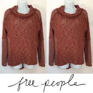 Free People Sweaters - | Free People | Burnt Orange Cowlneck Knit Sweater