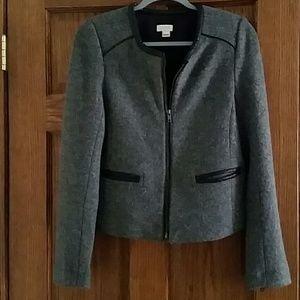 J.Crew Women's Short Wool-Blend Gray Jacket