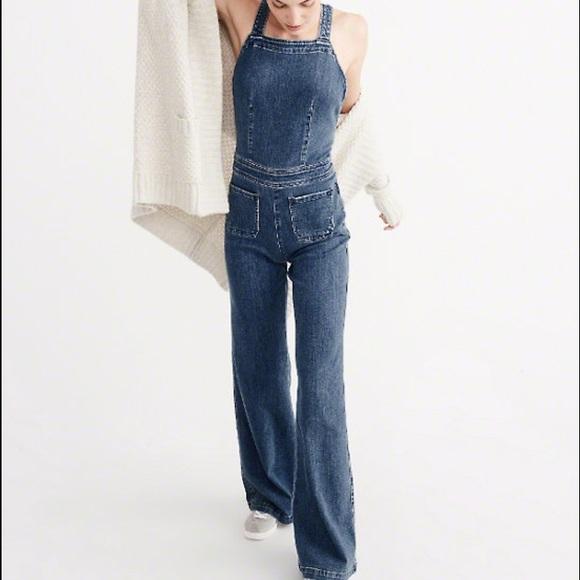 db52954819ee Abercrombie   Fitch Pants - Abercrombie Denim Flare Jumpsuit