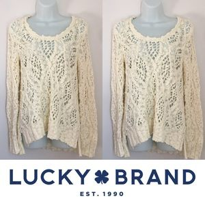 Lucky Brand Sweaters - | Lucky Brand | Chunky Cream Knit Sweater