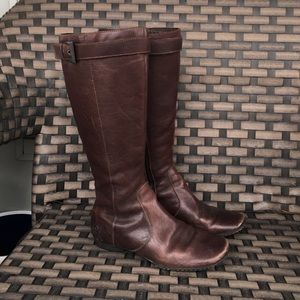 Born Shoes - Brown born leather boots tall
