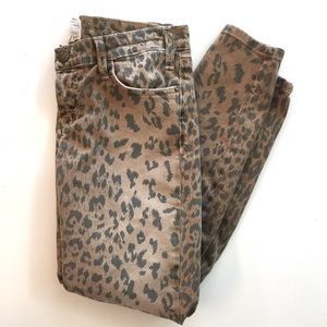 Current/Elliott Camel Leopard Stiletto Jeans // 27