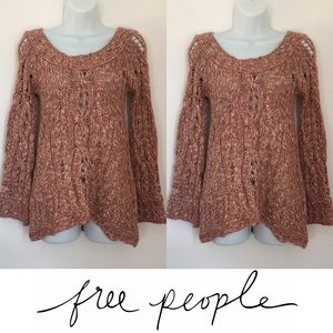 Free People Sweaters -   Free People   Chunky Knit Bell Sleeve Sweater
