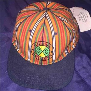Cross Colours Accessories - Vintage Cross Colours 90s SnapBack pinstripe hat 7af24a45ad9
