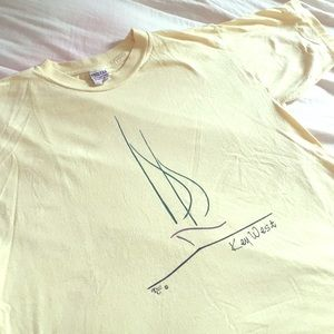 Awesome Key West Tee , Light Yellow A+ beauty