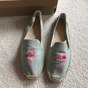 Soludos flamingo slipper size 8