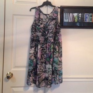 Ladakh Dresses & Skirts - Ladakh Watercolor Print Dress size M