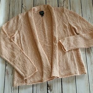 Eileen fisher cotton cardigan sweater med . petite