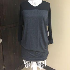 Calvin Klein Jeans Tops - Calvin Klein sheer panel NWT tunic! Flawless ‼💋
