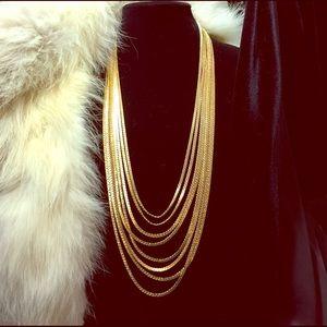 Vintage chain Monet necklace eight strand