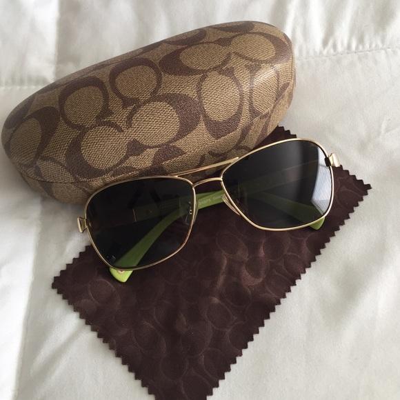 f128713d48c40 Coach Accessories - Polarize ladies coach aviator style sunglasses