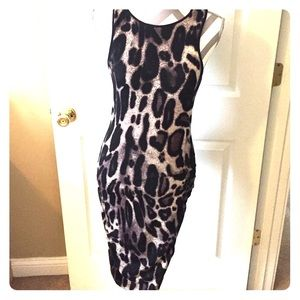 Karina Grimaldi Dresses & Skirts - [Karina Grimaldi] leopard stretch mid maxi dress