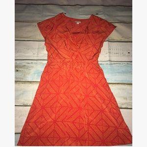Gap 0 orange red dress with pockets! XS