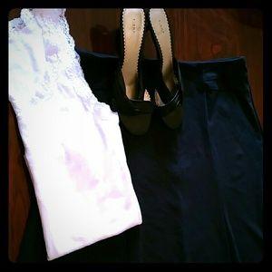 Cato Dresses & Skirts - Woman's pagoda skirt, navy blue.