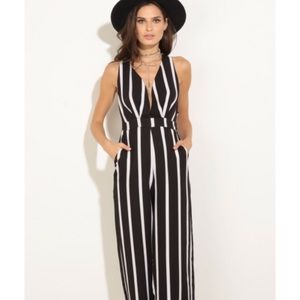 anawatboutique Pants - Narissa Stripe Jumpsuit