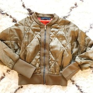 Zara quilted bomber jacket