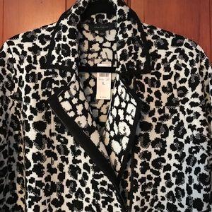 Ann Taylor Jackets & Blazers - NWT Ann Taylor Leopard Print Moto Jacket