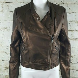 Bar III Jackets & Blazers - Bar 111 gorgeous metallic moto jacket